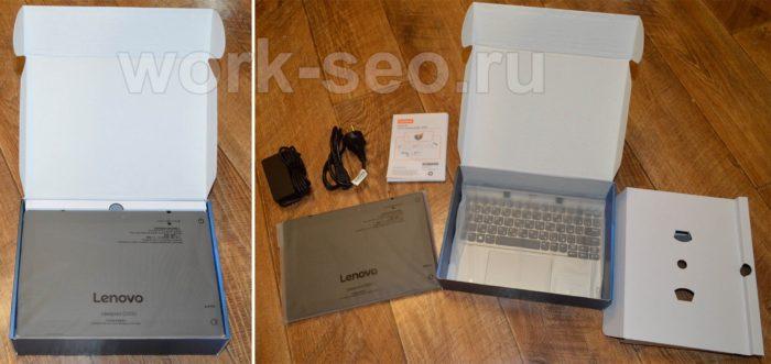 открытая упаковка планшета Lenovo IdeaPad D330